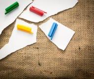 Pedazos coloreados Foto de archivo