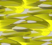 Pedazos coloreados de amarillo sobrepuesto, aceituna Fotografía de archivo