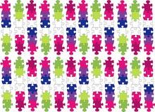 pedazos coloreados del rompecabezas Imágenes de archivo libres de regalías