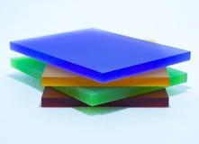 Pedazos coloridos de plexiglás Foto de archivo libre de regalías