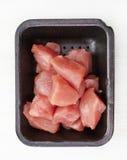 Pedazos crudos de la carne de cerdo Fotografía de archivo