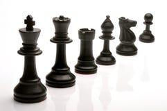 Pedazos de ajedrez imágenes de archivo libres de regalías