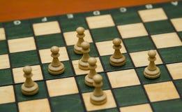 Pedazos de ajedrez Imagenes de archivo