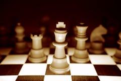 Pedazos de ajedrez Fotografía de archivo