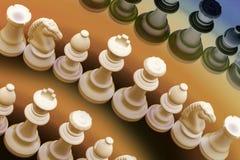 Pedazos de ajedrez Fotos de archivo