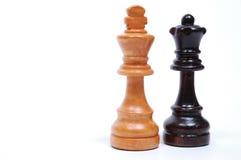 Pedazos de ajedrez Fotografía de archivo libre de regalías
