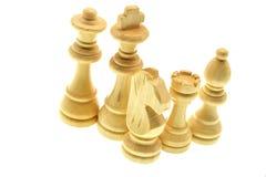 Pedazos de ajedrez aislados en el fondo blanco foto de archivo libre de regalías