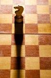 Pedazos de ajedrez de madera Fotografía de archivo libre de regalías