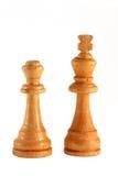 Pedazos de ajedrez de madera Fotos de archivo