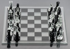 Pedazos de ajedrez mezclados Fotografía de archivo libre de regalías
