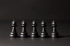 Pedazos de ajedrez plásticos Foto de archivo libre de regalías