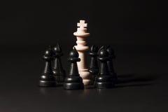 Pedazos de ajedrez plásticos Imagen de archivo