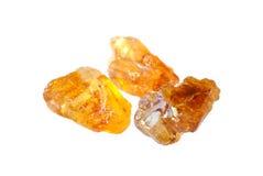Pedazos de azúcar marrón Foto de archivo libre de regalías