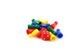 Pedazos de Boardgame Imagen de archivo libre de regalías