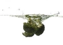 El salpicar del bróculi Foto de archivo libre de regalías