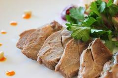 Pedazos de carne frita Fotos de archivo libres de regalías