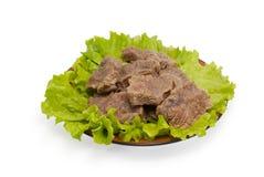 Pedazos de carne hervida Imagen de archivo libre de regalías