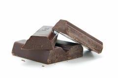 Pedazos de chocolate Fotos de archivo libres de regalías