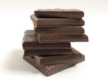 Pedazos de chocolate Imagenes de archivo