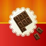 Pedazos de chocolate oscuro Imagen de archivo libre de regalías