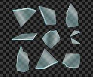 Pedazos de cristal ilustración del vector
