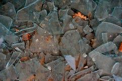 Pedazos de cristal quebrados Fotografía de archivo libre de regalías