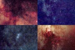 Pedazos de cuatro estrellas del cielo Imagen de archivo libre de regalías