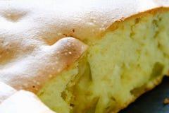 Pedazos de empanada de manzana deliciosa cortada Imagen de archivo libre de regalías