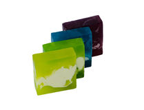 Pedazos de jabón coloridos imagen de archivo libre de regalías