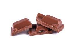 Pedazos de la barra de chocolate Fotografía de archivo libre de regalías