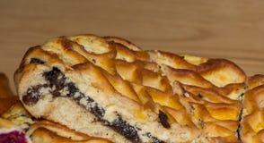 Pedazos de la empanada de la baya en panadería imágenes de archivo libres de regalías
