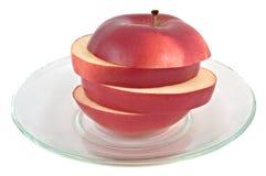 Pedazos de la manzana. Imagenes de archivo