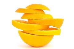 Pedazos de la naranja. Fotos de archivo