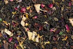 Pedazos de la piña del té verde que vigorizan, escaramujo, partes del appl Imagenes de archivo