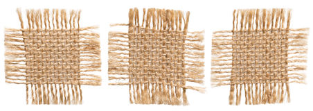 Pedazos de la tela de la arpillera, paño rústico de la arpillera, remiendo rasgado del saco Imagen de archivo libre de regalías