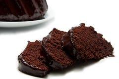 Pedazos de la torta de fango del chocolate Imagen de archivo libre de regalías