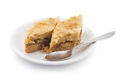 Pedazos de la torta del Baklava Foto de archivo libre de regalías