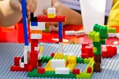 Pedazos de Lego Imagenes de archivo