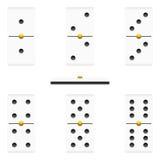 Pedazos de los dominós Foto de archivo libre de regalías