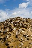 Pedazos de madera en la serrería Foto de archivo
