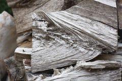 Pedazos de madera tajados, horizontales Imagen de archivo libre de regalías