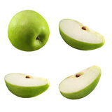 Pedazos de manzana imagen de archivo libre de regalías