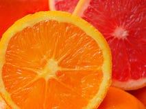 Pedazos de naranja del corte imagen de archivo