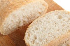 Pedazos de pan blanco Foto de archivo