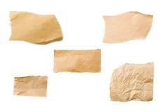 Pedazos de papel de empaquetado de Brown Fotografía de archivo libre de regalías