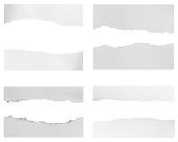 Pedazos de papel rasgado imagen de archivo