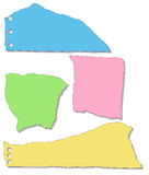 Pedazos de papel rasgados Fotografía de archivo libre de regalías