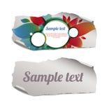 Pedazos de papel rasgados coloridos y en blanco Fotografía de archivo libre de regalías