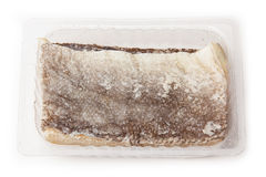 Pedazos de pescados de bacalao de sal Imagen de archivo