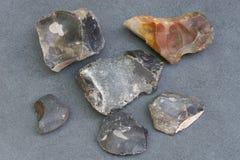 Pedazos de piedra del pedernal fotos de archivo libres de regalías